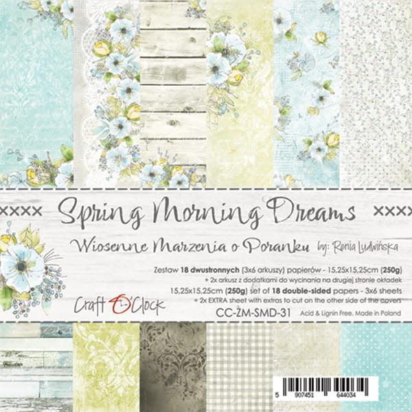 craftoclock spring morning dreams 15.2x15.2