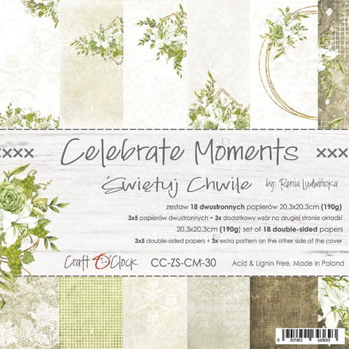 craftoclock celebrate moments 20.3x20.3