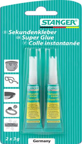 Stanger secondenlijm /Superglue / Sekundenkleber, 2 x 3 g, blister
