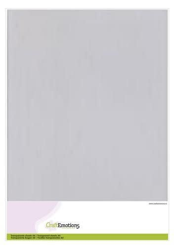 CraftEmotions CraftEmotions Transparante sheets A4 1PK/5VL