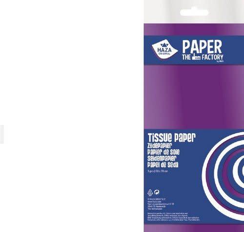 Haza Zijdevloeipapier wit 18gr 5VL 50x70cm