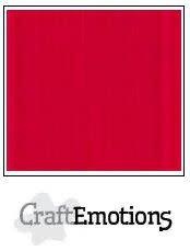 CraftEmotions papier 30.5x30.5 linnenkarton vuurrood