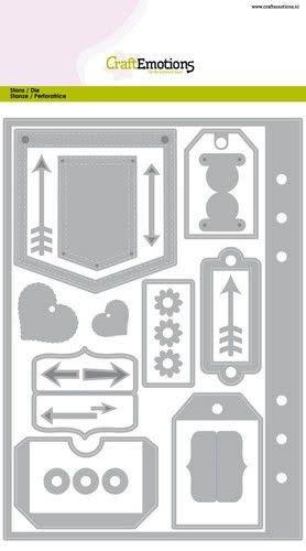 CraftEmotions CraftEmotions Die - Planner essentials 1 Card A5