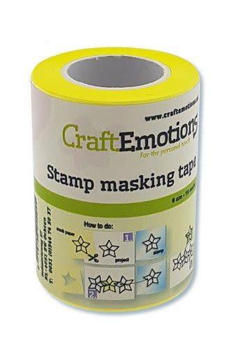 CraftEmotions CraftEmotions stempel maskeer tape 6 cm - 7,5 meter