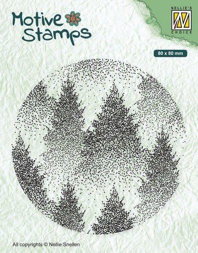 Nellie's choice Nellies Choice Christmas Silhouette Clearstamp - Mistig Bos TXCS017