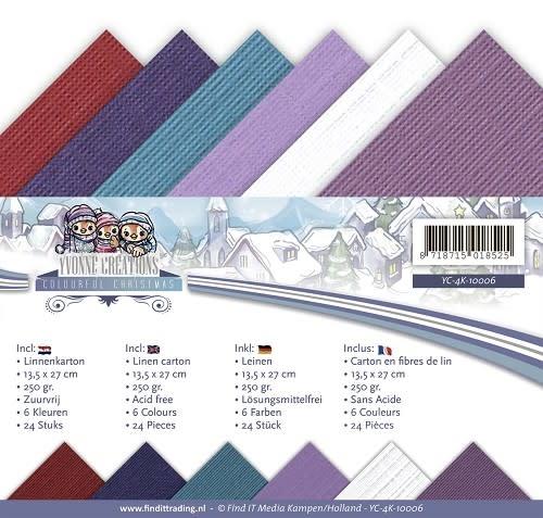 Yvonne creations Linnenpakket - 4K- Yvonne Creations - Colourful Christmas