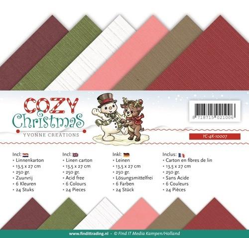 Yvonne creations Linnenpakket - 4K - Yvonne Creations - Cozy Christmas