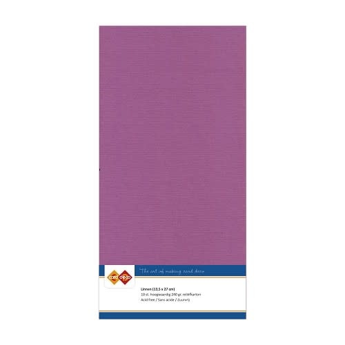 Card deco Linnenkarton - Vierkant - Aubergine
