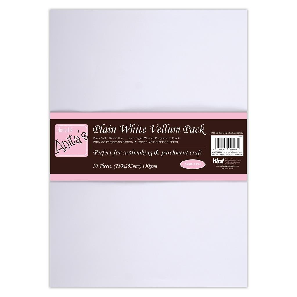 Anita's A4 Parchment Vellum Plain White (10pcs)