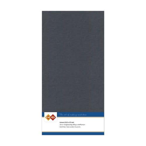 Card deco Linnenkarton - Vierkant - Donkergrijs