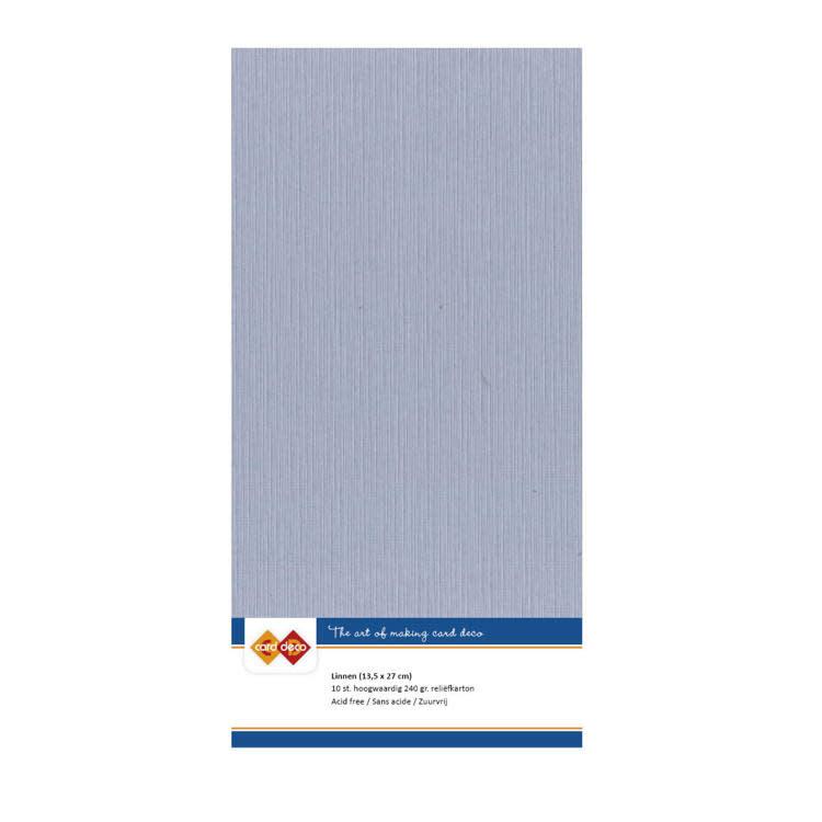 Card deco Linnenkarton - vierkant - Oudblauw
