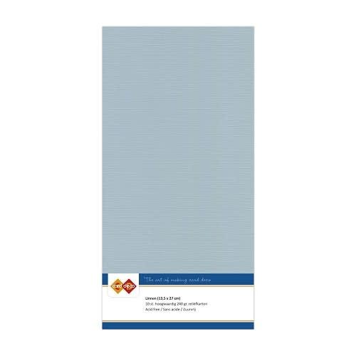 Card deco Linnenkarton - Vierkant - Grijs
