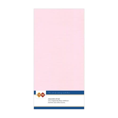 Card deco Linnenkarton - Vierkant - Lichtroze