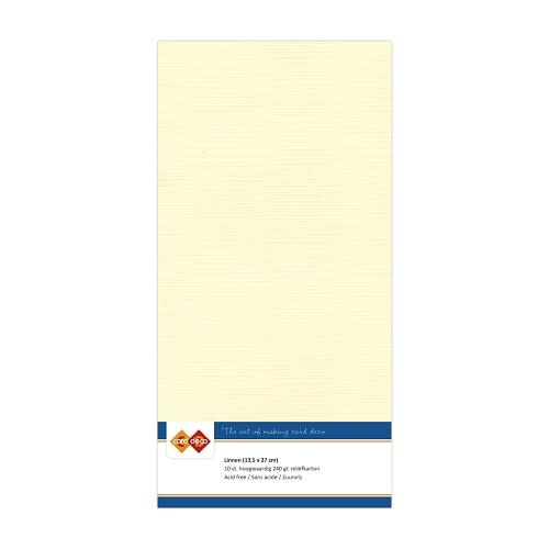 Card deco Linnenkarton - Vierkant - Creme