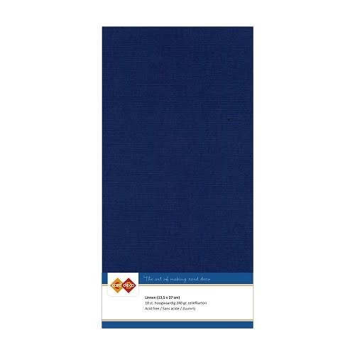 Card deco Linnenkarton - Vierkant - Donkerblauw