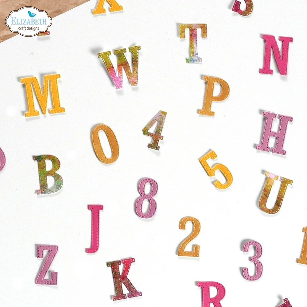 Elisabeth craft design Planner Essentials 37 - Stitched Letters & Numbers 1863