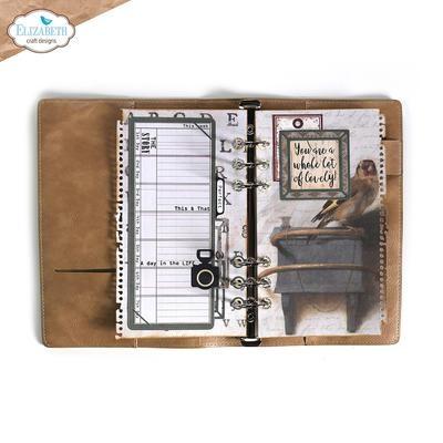 Elisabeth craft design Planner Essentials 39 - Torn Paper Page With Frames 1865