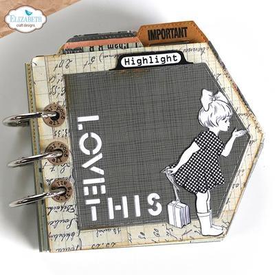Elisabeth craft design Label Tabs CS232 stempel