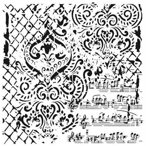 Cadence Cadence Mask Stencil GCSM - Grunch ornament 14 03 029 0014 25x25cm