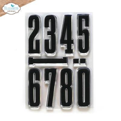 Elisabeth craft design Long & Tall Numbers