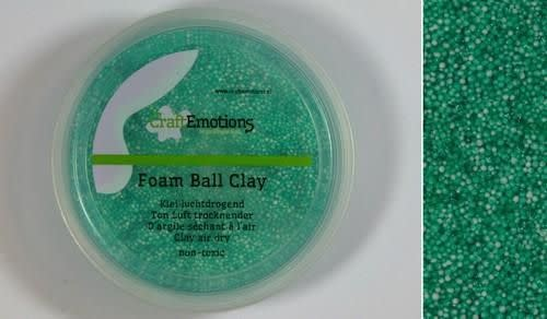 CraftEmotions CraftEmotions Foamball clay - groen 75ml - 23gr Air dry