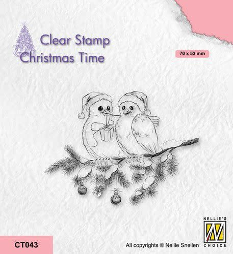 Nellie's choice Nellie's Choice Clearstempel - Christmas time Vogels CT043