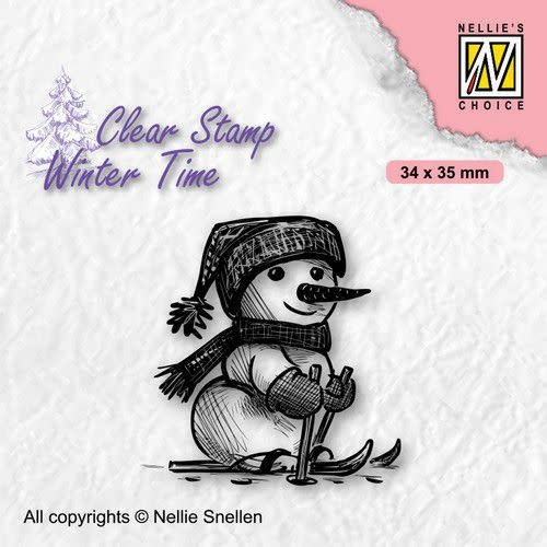 Nellie's choice Nellie's Choice Clearstamp - Winter Time Sneeuwpop 6 WT010