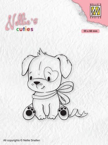 Nellie's choice Nellies Choice Clearstamp - Christmas Cuties - Hond NCCS015