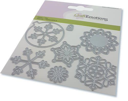 CraftEmotions Die - kerstbal rond multi ornament Card 11x9cm - 82 mm