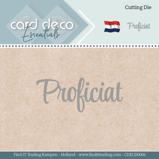 Card deco Card Deco Essentials - Dies - Proficiat