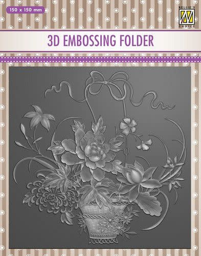 Nellie's choice Nellie's Choice 3D Emb. folder - Boeket EF3D030 150x150mm