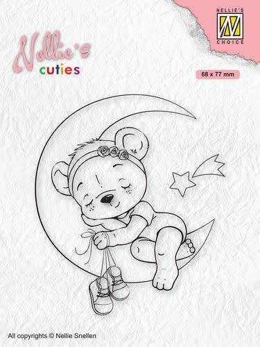 Nellie's choice Nellies Choice Clearstamp - Christmas Cuties - Beer NCCS016 68x77mm