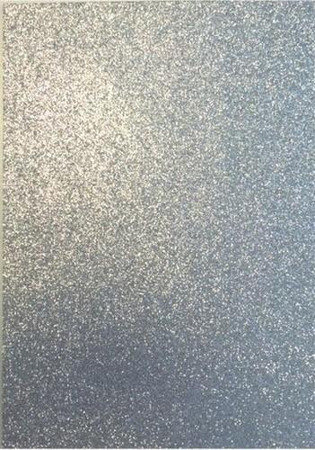 EVA foam vellen 2mm 22x30cm  Zilver glitter