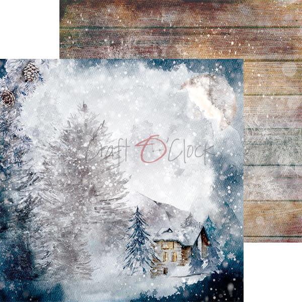 craftoclock SNOWY WINTERLAND - EEN SET PAPIEREN 20,3 X 20,3 CM