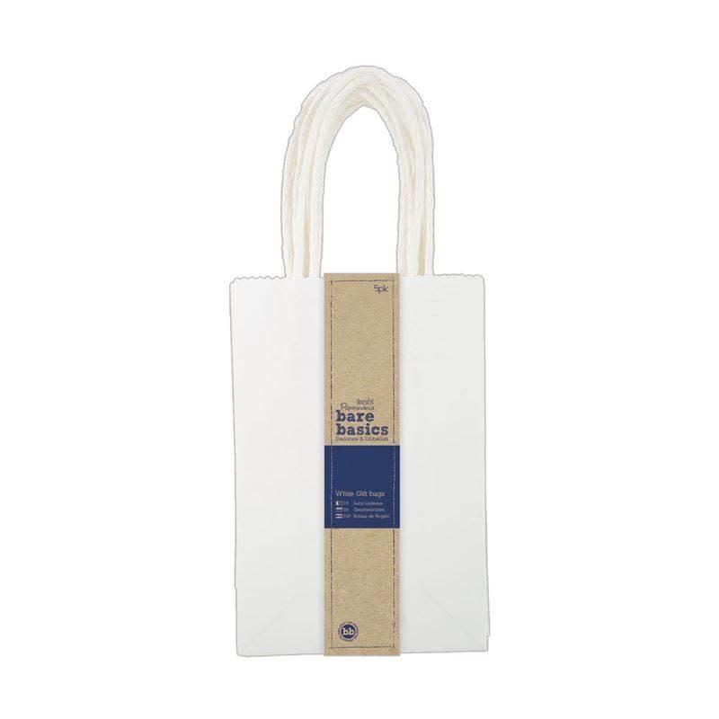 Papermania Bare Basics Small White Gift Bags (5 pcs) (PMA 174207)
