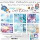craftoclock CY02 - COSMIC ADVENTURES - EEN SET PAPIEREN 20,3X20,3CM