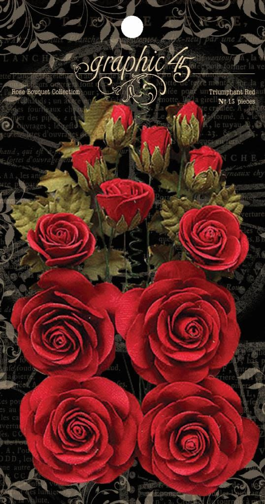 Graphic 45 Triumphant Red Flowers (4501785)