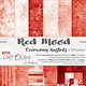 craftoclock BASIC 13 - RED MOOD - A SET OF PAPERS 30,5X30,5CM