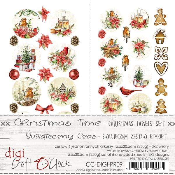 craftoclock LABELS SET - 09 - CHRISTMAS TIME - CHRISTMAS SET