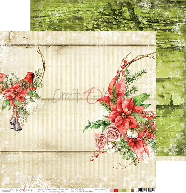 craftoclock CHRISTMAS TIME - 06 - A DOUBLE-SIDED PAPER 30,5X30,5CM