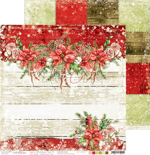 craftoclock CHRISTMAS TIME - 01 - A DOUBLE-SIDED PAPER 30,5X30,5CM