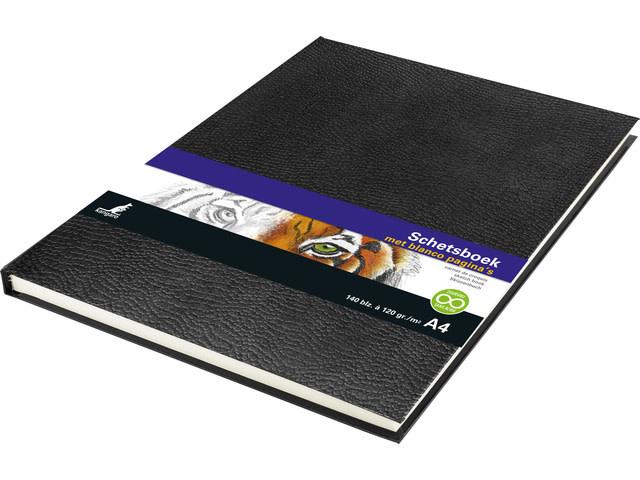 Kangaro Kangaro Schetsboek A4 Hardcover Black