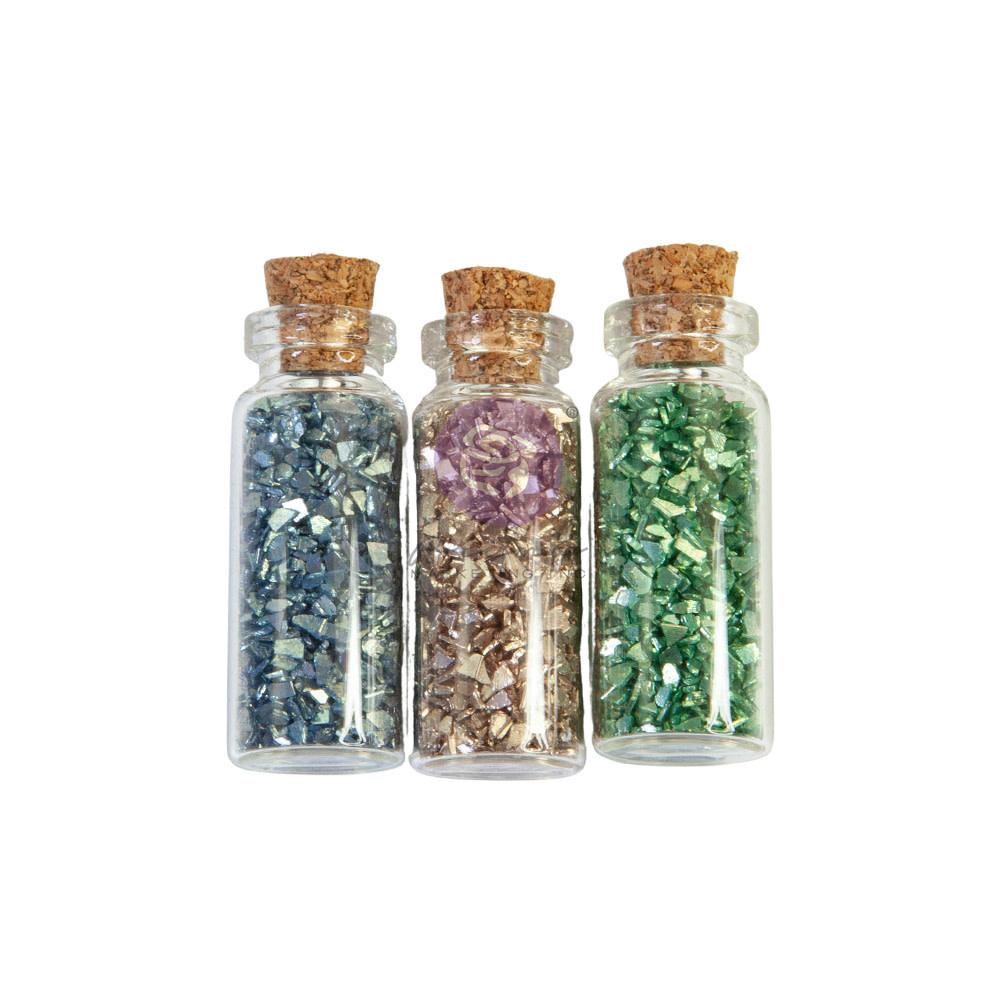 Prima Marketing Prima Marketing Christmas Sparkle Glass Glitter Vials (3pcs)