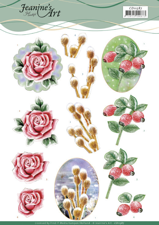 Jeanine's art 3D Cutting Sheet - Jeanine's Art - Winter Flowers