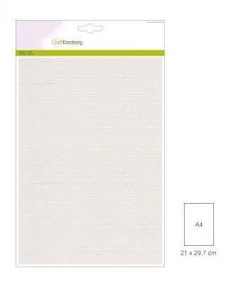 CraftEmotions CraftEmotions canvas karton 10 vel wit A4 250gr