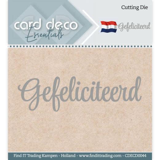 Card deco Card Deco Essentials - Cutting Dies - Gefeliciteerd