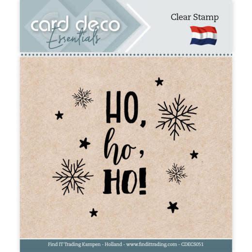 Card deco Card Deco Essentials - Clear Stamps - Ho, ho, ho