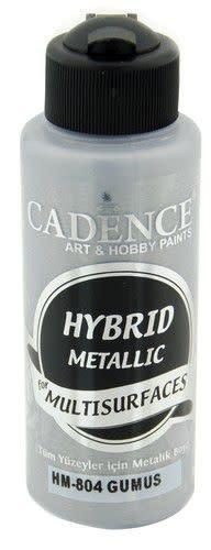 Cadence Cadence Hybride metallic acrylverf (semi mat) Zilver 01 008 0804 0120 120 ml