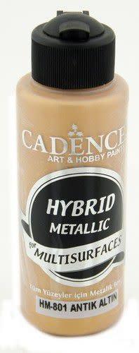 Cadence Cadence Hybride metallic acrylverf (semi mat) Antiek goud 01 008 0801 0120 120 ml