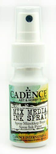 Cadence Mix Media Inkt spray Wit 01 034 0001 0025 25 ml